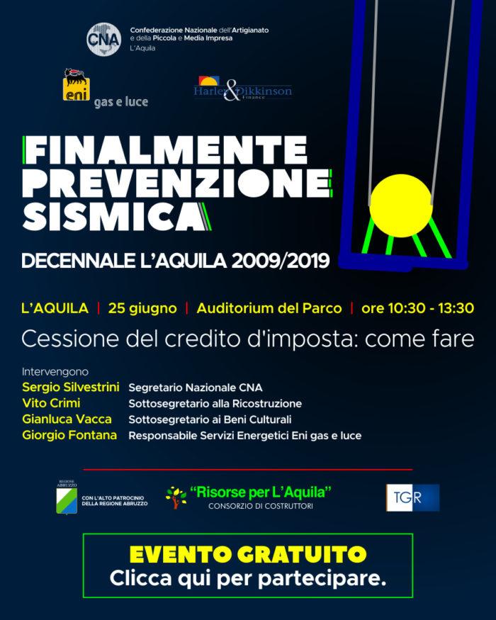 PREVENZIONE SISMICA 25 GIUGNO 2019